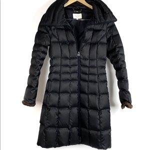 Laundry by Shelli Segal Quilted Black Puffer Coat